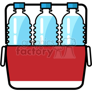 cooler loaded with water bottles icon clipart. Royalty-free image # 398214