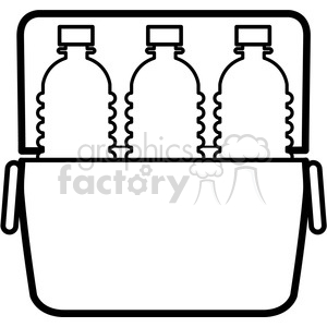 water bottle icons in a cooler clipart. Royalty-free image # 398224