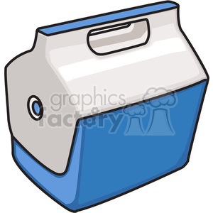 blue closed cooler clipart. Royalty-free image # 398234
