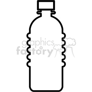 blank water bottle icon clipart. Royalty-free image # 398244