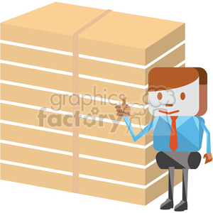 cartoon salesman selling goods clipart. Royalty-free image # 398264