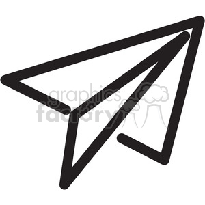 paper airplane icon clipart. Royalty-free image # 398389