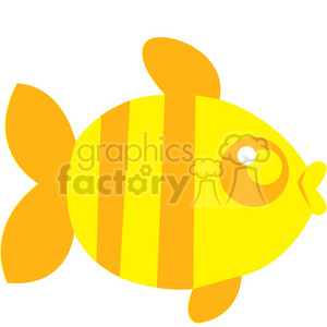Yellow_Fish vector image RF clip art clipart. Royalty-free icon # 398456