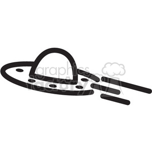 ufo flying through space vector icon clipart. Royalty-free image # 398476