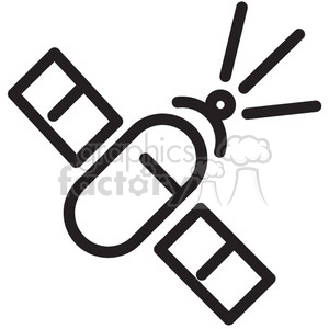 satellite space communication vector icon clipart. Royalty-free image # 398506