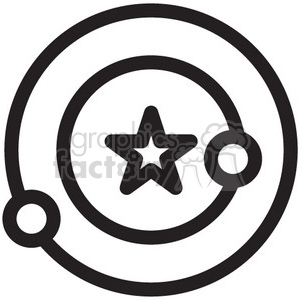 space orbit vector icon clipart. Royalty-free image # 398526