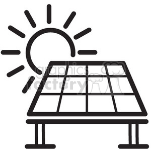 solar panel vector icon clipart. Royalty-free image # 398546