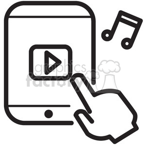 music app vector icon clipart. Commercial use image # 398565