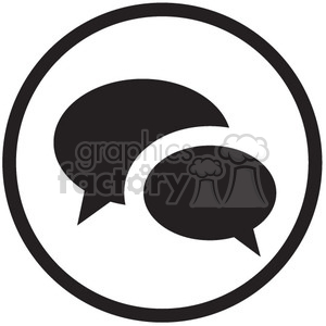 social chat vector icon clipart. Royalty-free image # 398570