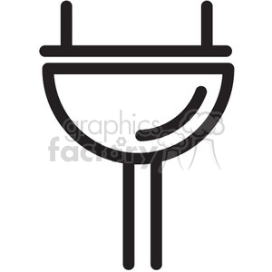 icon icons black+white outline symbols SM vinyl+ready plug cord power energy