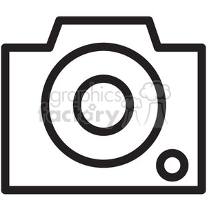 camera outline vector icon clipart. Commercial use image # 398598