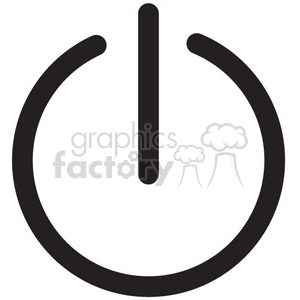 standby symbol sleep mode vector icon clipart. Royalty-free image # 398608