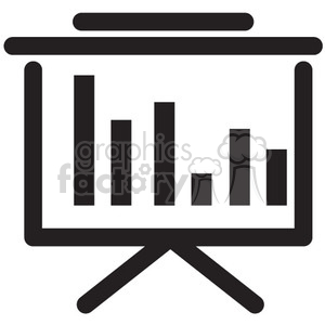 presentation vector icon clipart. Commercial use image # 398618