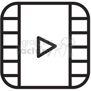 play video vector icon clipart. Royalty-free image # 398623