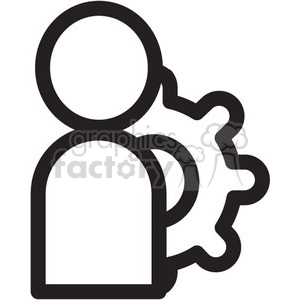 profile settings vector icon clipart. Royalty-free image # 398672