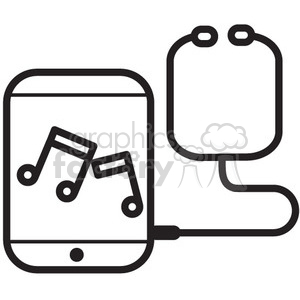 mobile music player vector icon clipart. Royalty-free image # 398682