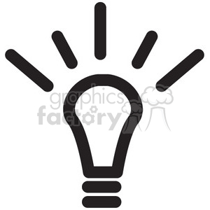 icon icons black+white outline symbols SM vinyl+ready idea lightbulb light