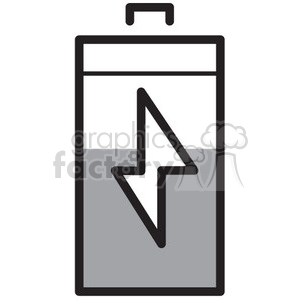half full battery vector icon clipart. Royalty-free image # 398707