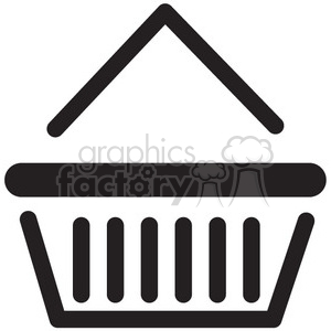 basket vector icon clipart. Royalty-free icon # 398712