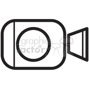 video camera vector icon clipart. Royalty-free image # 398722