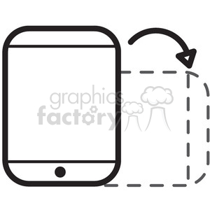 rotate phone vector icon clipart. Royalty-free icon # 398727