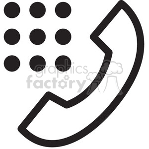icon icons black+white outline symbols SM vinyl+ready phone call talk communication