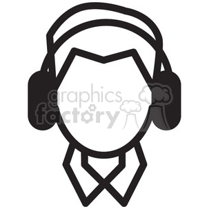 person listening to music vector icon clipart. Royalty-free image # 398737