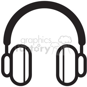 headphones vector icon clipart. Royalty-free image # 398752