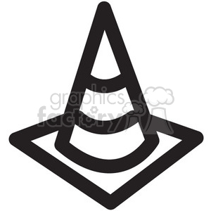construction cone vector icon clipart. Commercial use image # 398757