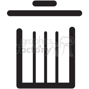garbage can vector icon clipart. Royalty-free image # 398767