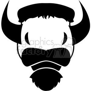 bison cattle logo icon design black white clipart. Royalty-free image # 398781