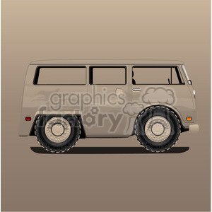 volkswagen bus van sand storm clipart. Commercial use image # 398812