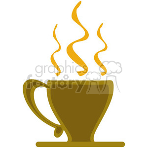 steaming coffee cup animation. Royalty-free animation # 140496