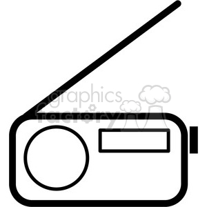 radio vector icon clipart. Royalty-free image # 398835