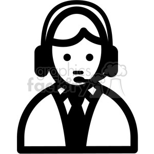 people tech support vector icon clipart. Royalty-free image # 398855