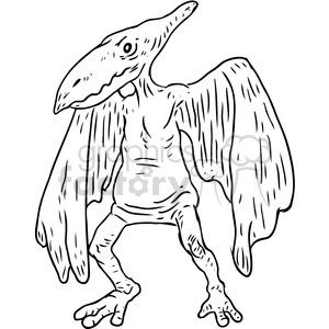 cartoon character pterodactyl dinosaur bird ancient