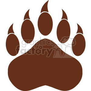 9223 royalty free rf clipart illustration brown bear paw with claws vector illustration isolated on white clipart. Royalty-free image # 398980