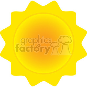 royalty free rf clipart illustration abstract sun vector illustration isolated on white background clipart. Royalty-free image # 399301
