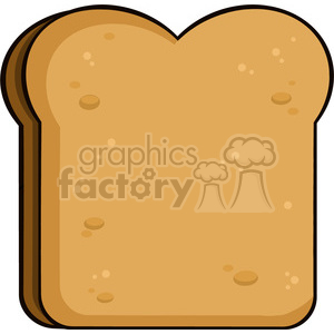 illustration cartoon toast bread slice vector illustration isolated on white background clipart. Commercial use image # 399438