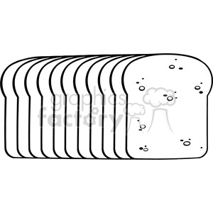 illustration black and white cartoon bread loaf vector illustration isolated on white background clipart. Royalty-free image # 399500