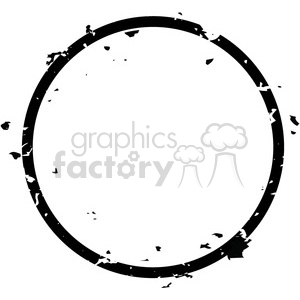 grunge weathered distressed round vector art clipart. Royalty-free image # 400247