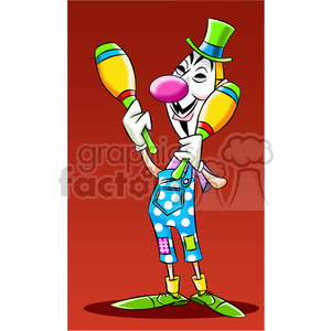 vector clipart image of anonymous person dressed like a clown clipart. Commercial use image # 400309