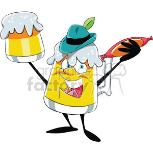 oktoberfest beer mug cartoon character clipart. Commercial use image # 400339