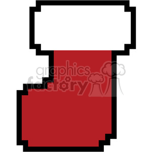 8-bit stocking vector art clipart. Royalty-free image # 400389