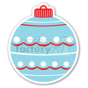 christmas decoration ornament sticker