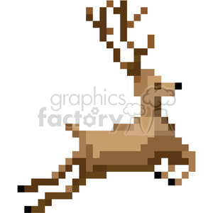 8bit christmas reindeer vector art clipart. Royalty-free image # 400408