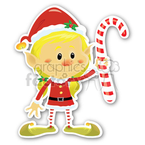 christmas elf sticker clipart. Royalty-free image # 400428