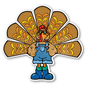 thanksgiving turkey sticker clipart. Royalty-free image # 400487