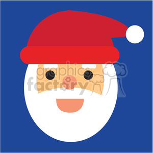 santa head icon vector art clipart. Royalty-free image # 400511
