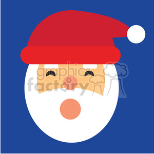 santa head ho ho ho icon vector art clipart. Commercial use image # 400521